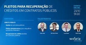 Pleitos para recuperação de créditos em contratos públicos